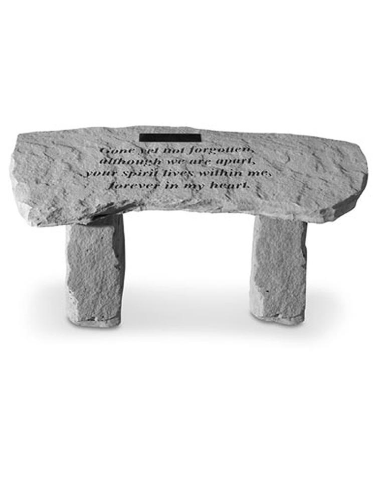 Gone yet not.. Garden Bench Engraved
