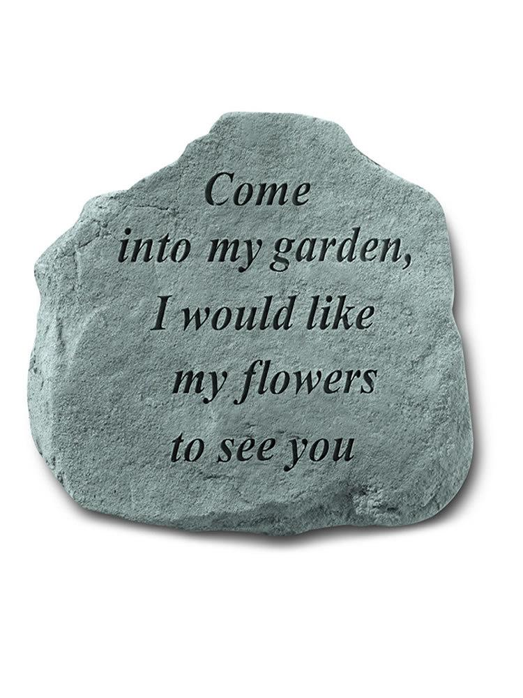Come into My Garden Accent Rock