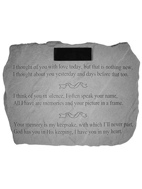 I thought of you.. Garden Stone Engraved