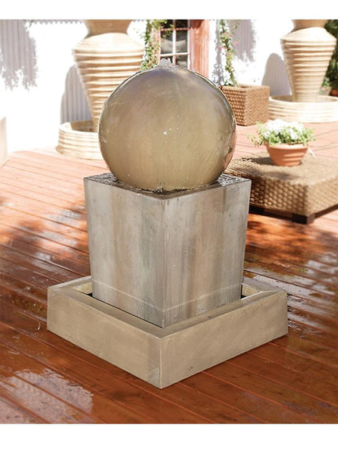 Watertop Fountain With Sphere