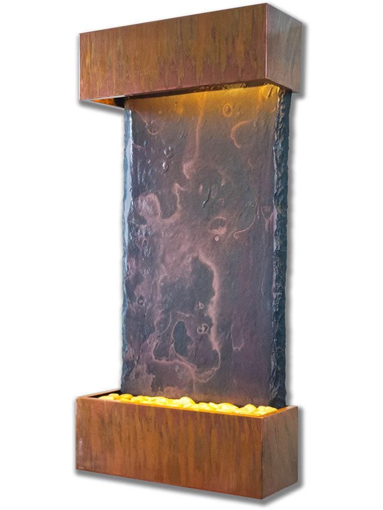 Medium Nojoqui Falls Wall Fountain in Copper Patina