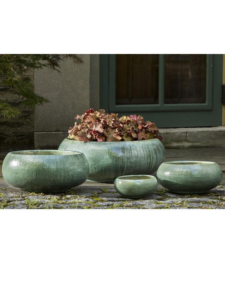 Misha Planter Set of 4 in Celadon Pearl