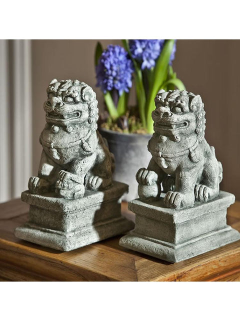 Small Temple Foo Dogs Left & Right