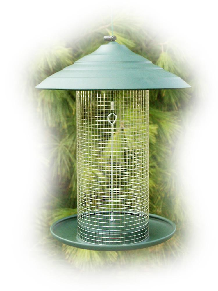 Steel Magnum Sunflower Bird Feeder, Green