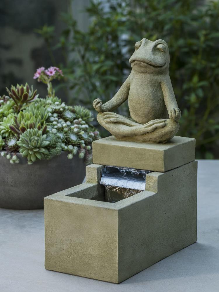 Mini Element Zen Frog Fountain