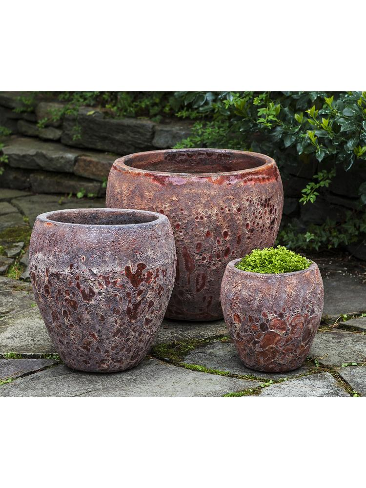 Symi Planter - Set of 3 in Angkor Red