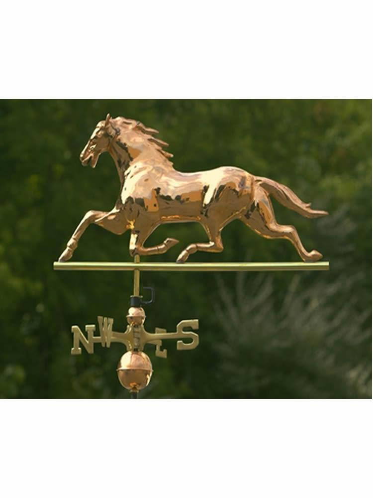 Copper Stallion Weather Vane