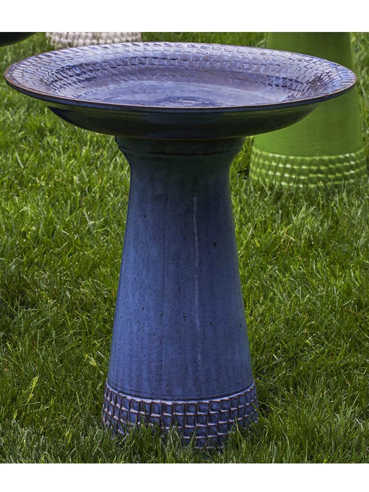 Tattersall Birdbath in French Blue