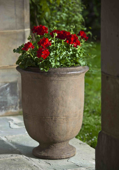Set of 2 Provencal Large Urns with FREE Plants