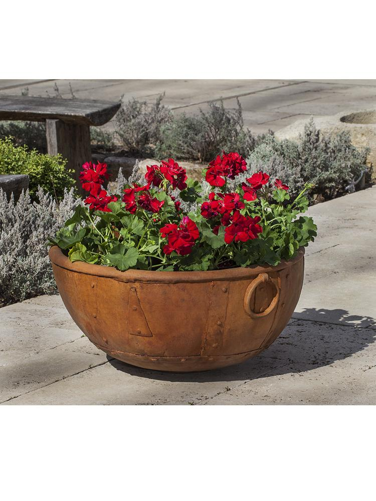 Rustic Kettle Planter