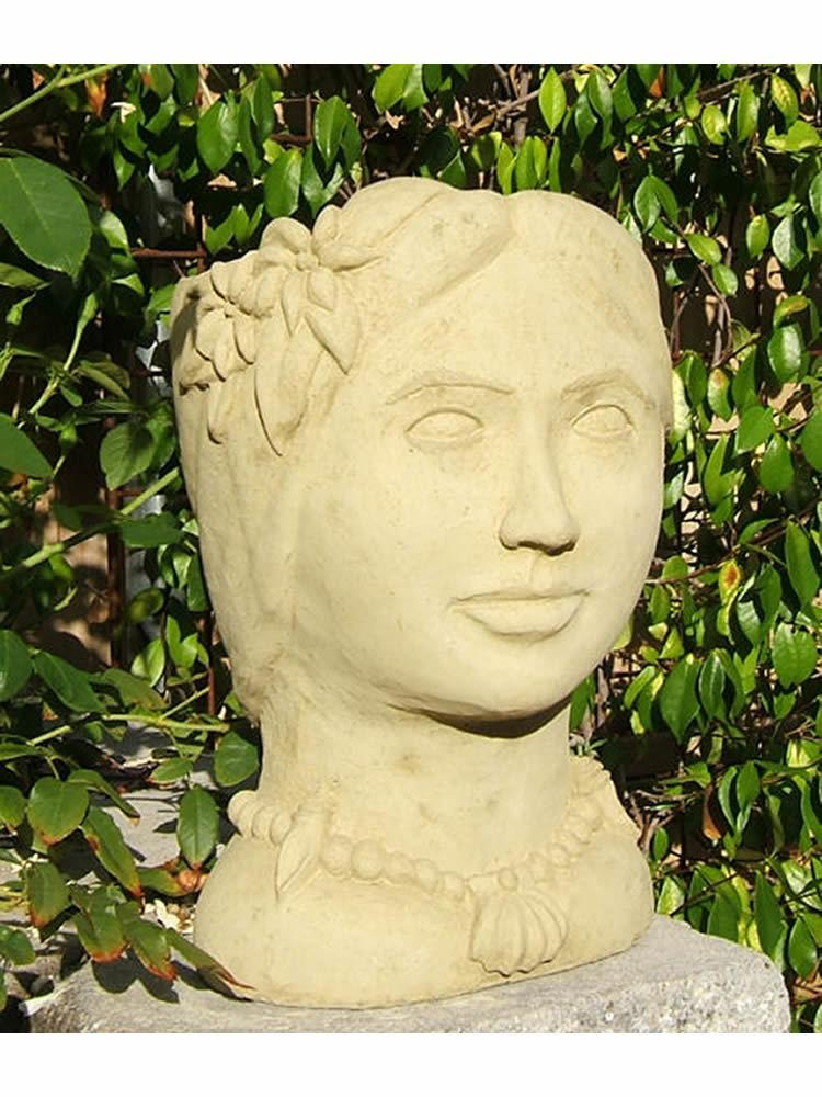 Island Princess Head Planter