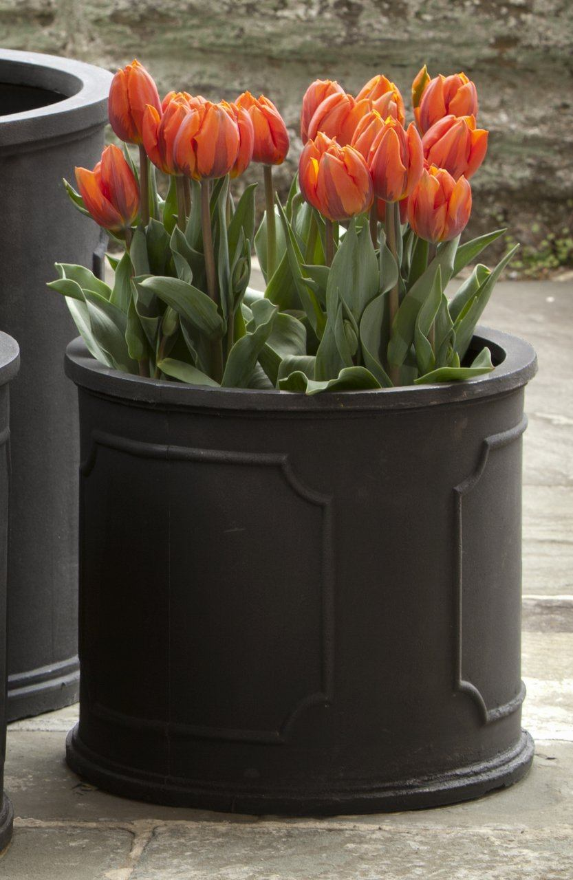 Extra Small Portsmouth Round Planter - Black
