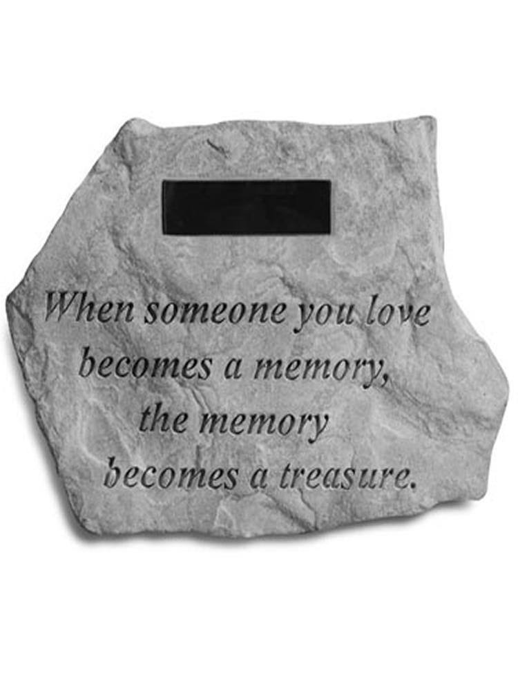 When someone you love.. Garden Stone Engraved