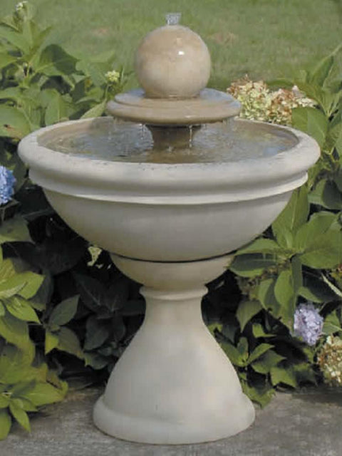 Winston Fountain with Sphere on Tier, Medium