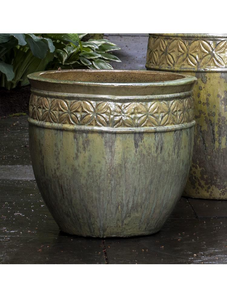 Kousa Planter Set of Three in Tropical Avocado