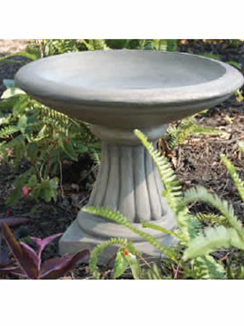 Miniature Fluted Bird Bath