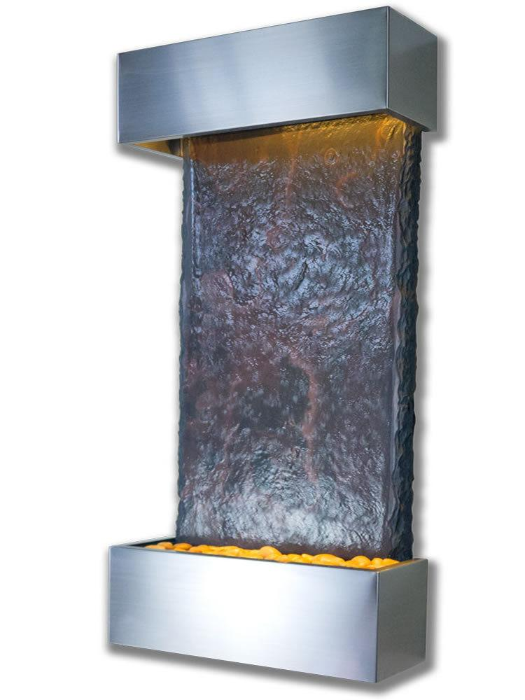 Medium Nojoqui Falls Wall Fountain in Stainless Steel