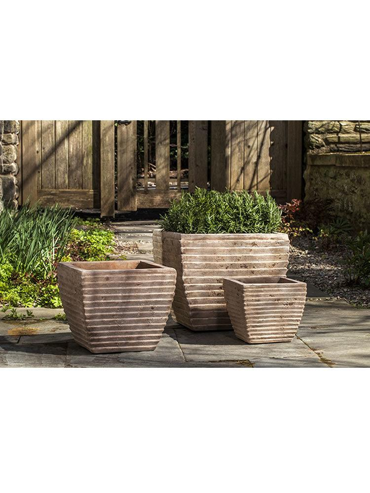 Ipanema Square Planter Set of Three in Antico Terra Cotta