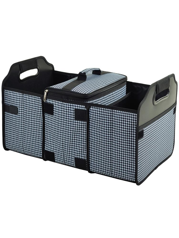 Trunk Organizer and Cooler set -Houndstooth
