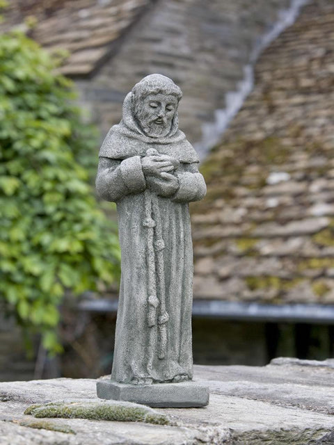 Saint Francis with Bird Garden Statue, Small