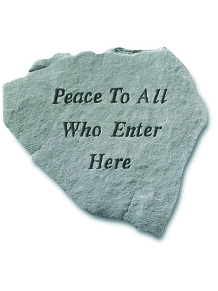 Peace To All Stone Plaque