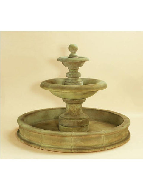 Villa Santini Two Tier Pond Fountain Short