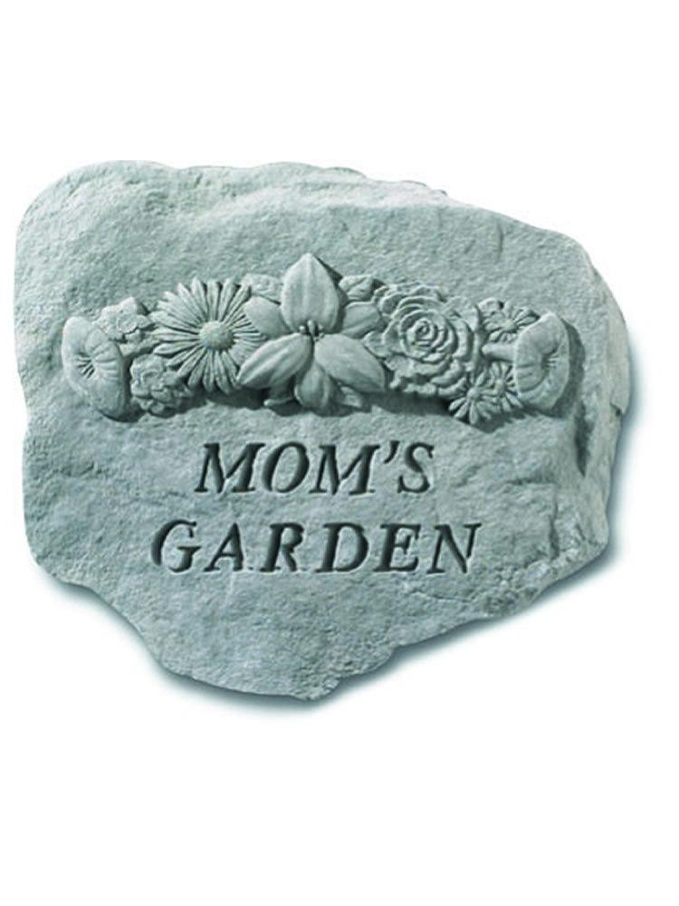 Mom's Garden with Flowers Stone Plaque