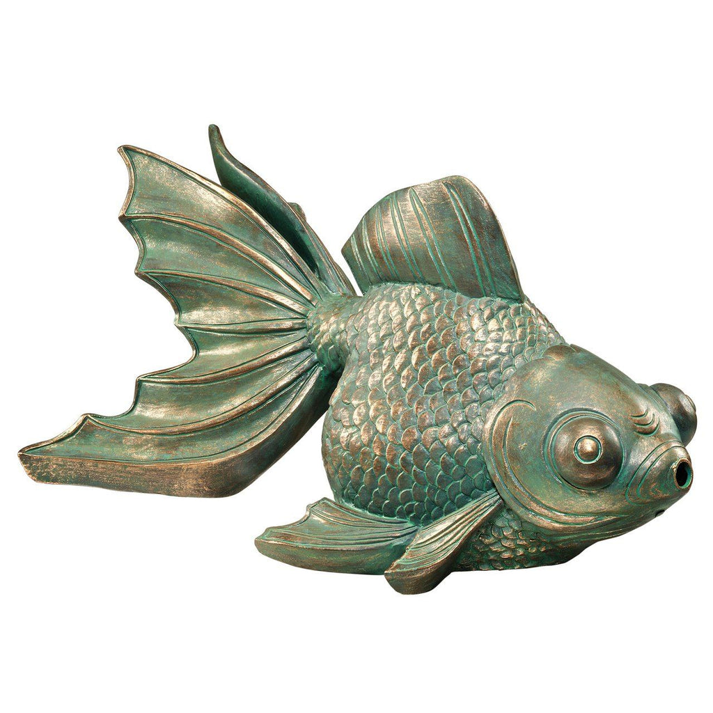 Butterfly Asian Koi Piped Spitter Statue