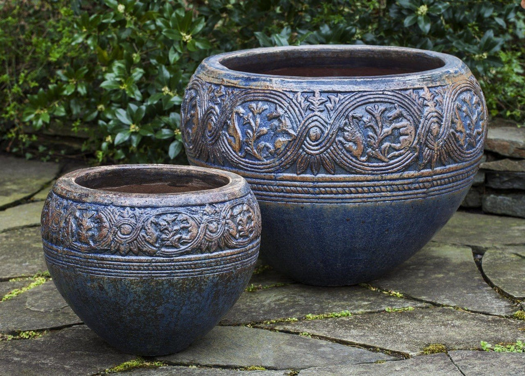 Mandalay Planter - Rustic Antique Blue