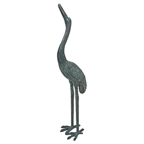 Medium Bronze Crane: Straight Neck