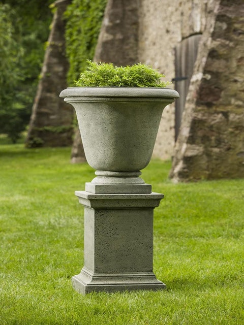 Rustic Hampton Urn with Pedestal
