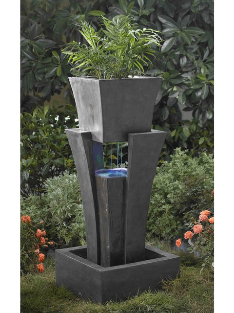 Modern Shape Water Fountain with Planter