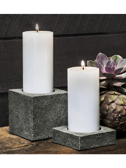"Soho Square Pillar Candleholder Set of Four (3"" Candle)"