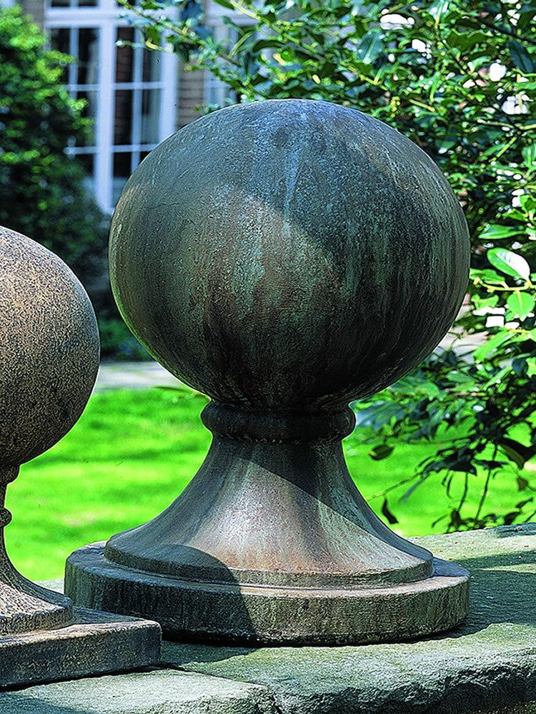 Cast Stone Garden Statuary: Campania International: Large Sphere With Round  Base Finial U2013 Garden Fountains.com