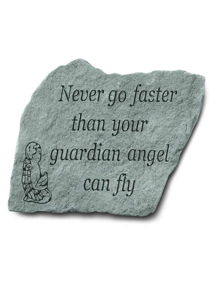 Never Go Faster Garden Accent Rock