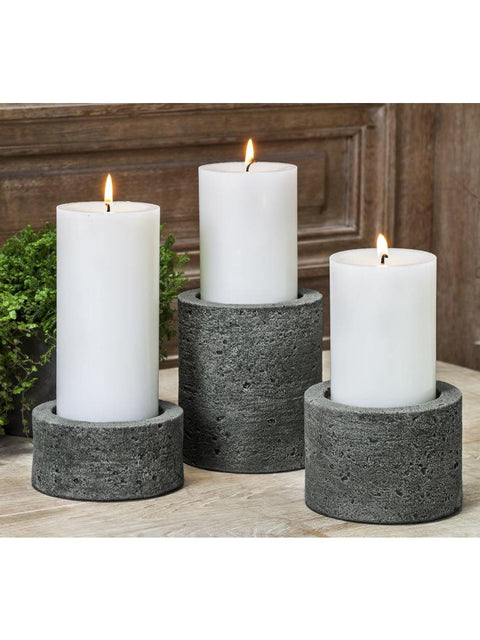 "Soho Round Pillar Candleholder Set of Six (3"" Candle)"