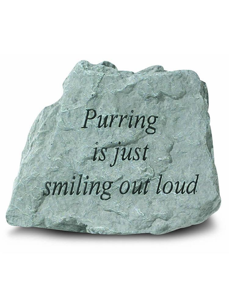 Purring is Just Smiling Out Loud Mini Garden Stone/Plaque