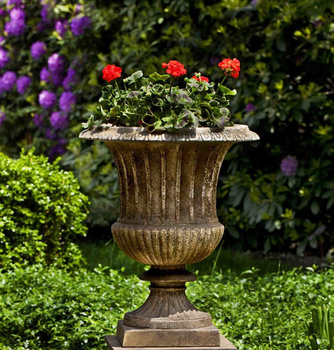 Set of 2 Smithsonian Classical Urns with FREE Plants