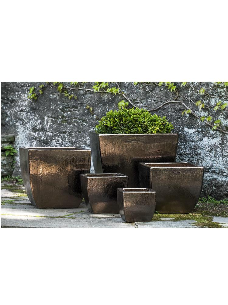 Ilona Planter Set of Five in Bronze Doré