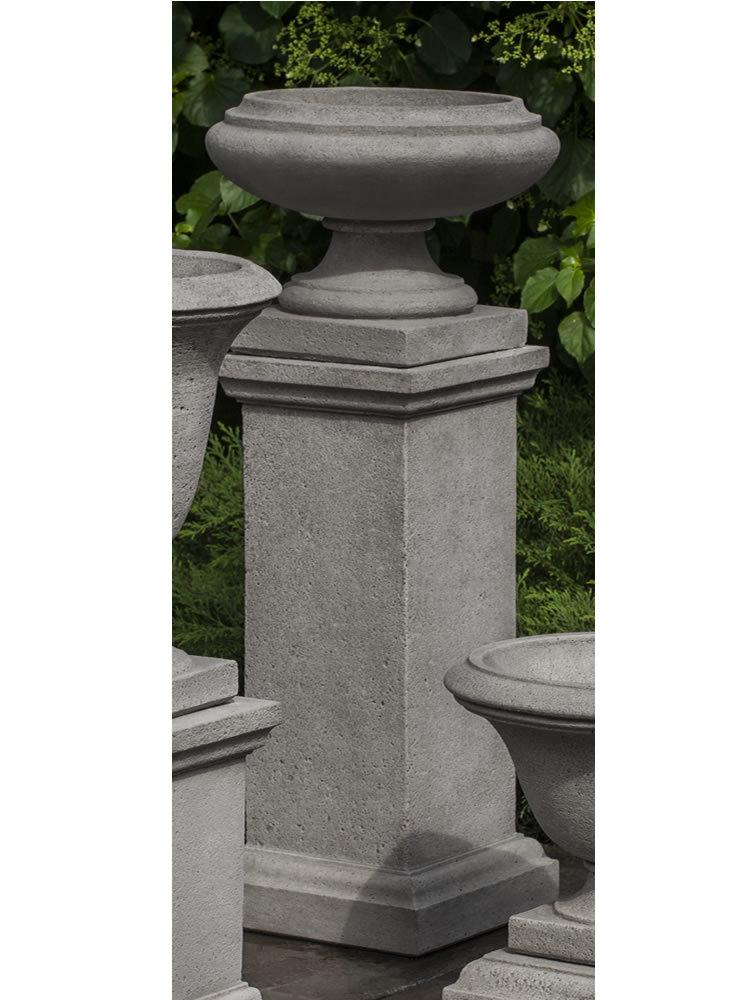 Marella Urn with Tall Wolcott Pedestal