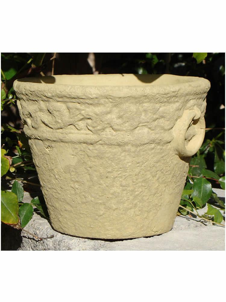 Distressed Flowerpot with Rings