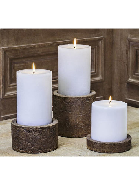 "Soho Round Pillar Candleholder Set of Six (4"" Candle)"