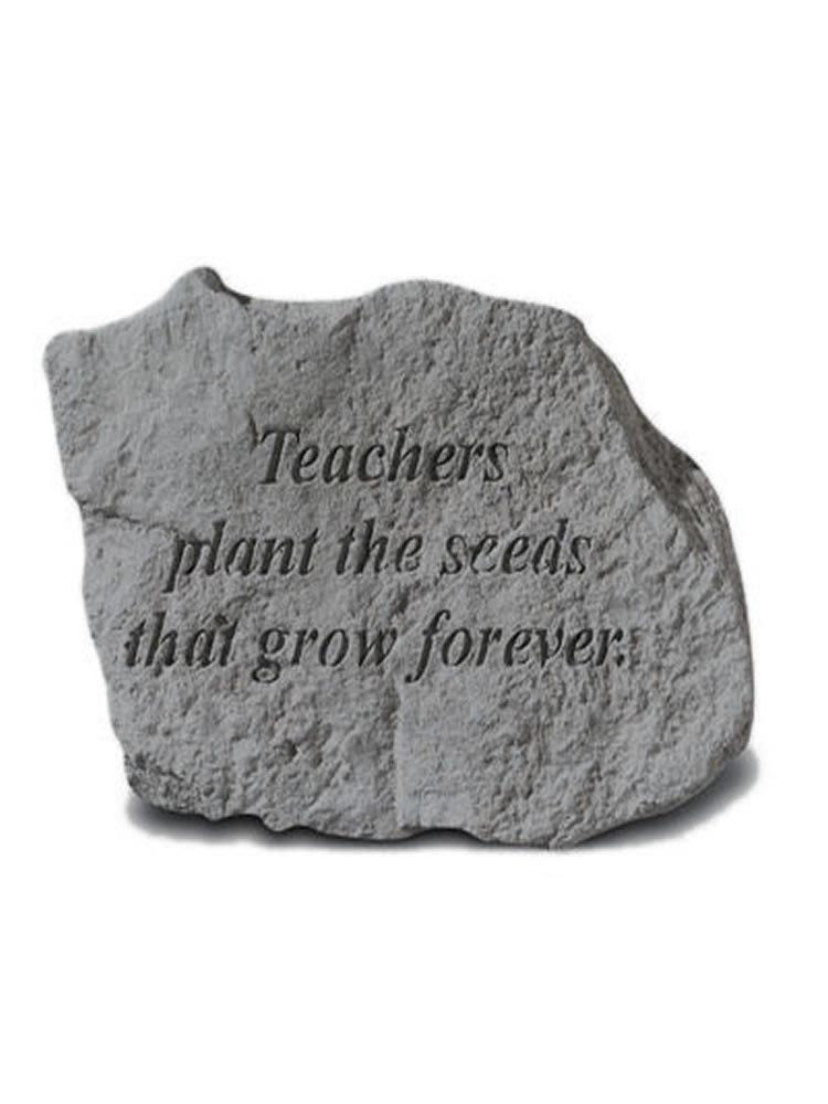Teachers Plant the Seeds Mini Garden Stone/Plaque
