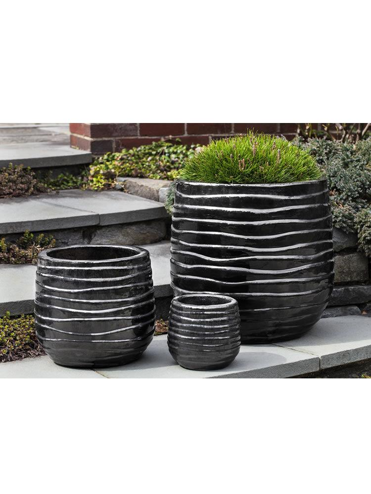 Ipanema Planter Set of Three in Ice Black