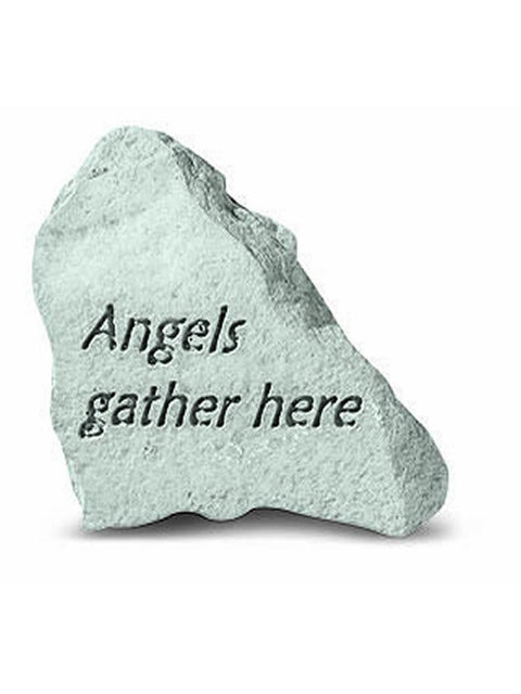 Angels Gather Here Mini Garden Stone/Plaque
