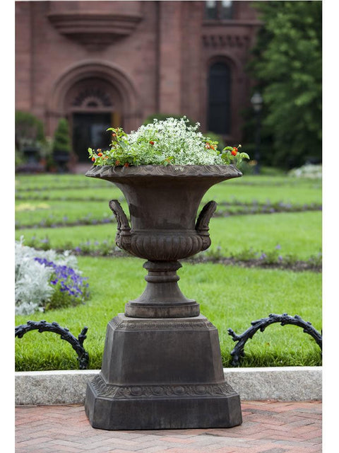Smithsonian L'Enfant Urn on Smithsonian Egg and Dart Pedestal