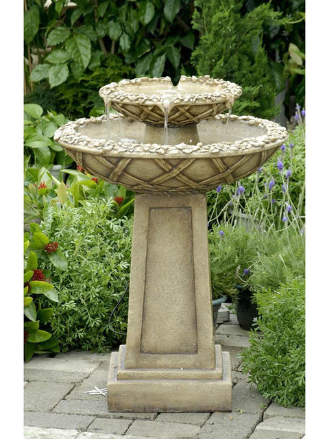 Basket Weave Flower Fountain