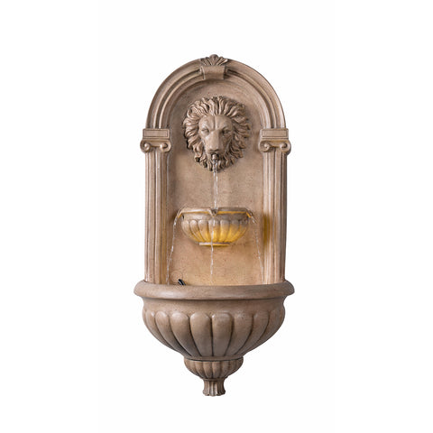 Imperial Lion Wall Fountain