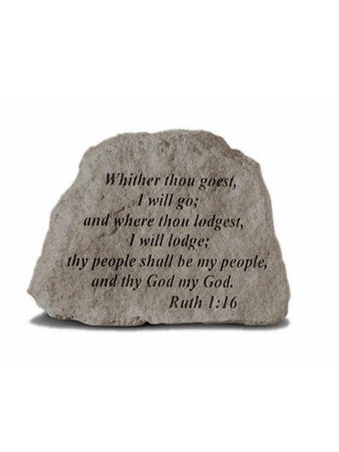 Ruth 1:16 Inspirational Garden Stone/Plaque