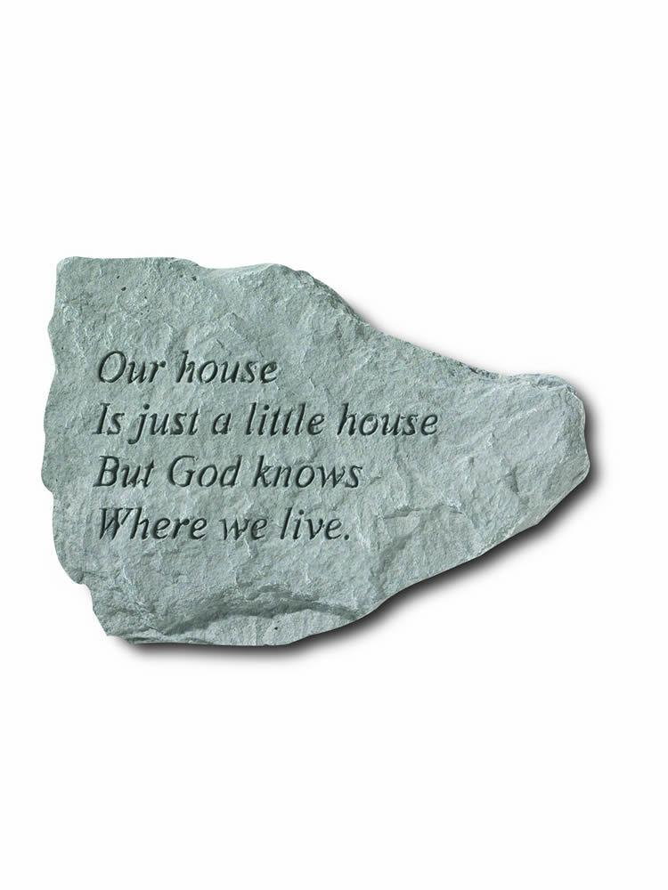 Our House Mini Garden Stone/Plaque